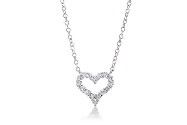 The Amelia Heart Diamond Necklace