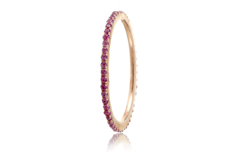The Lita Pink Sapphire Eternity Band (1mm)