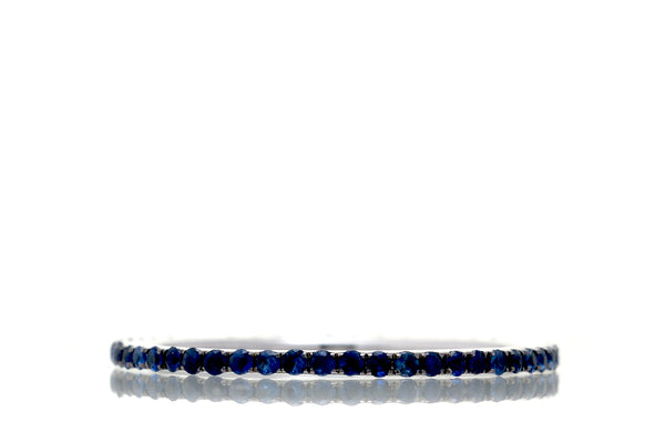 The Lita Blue Sapphire Eternity Band (1mm)