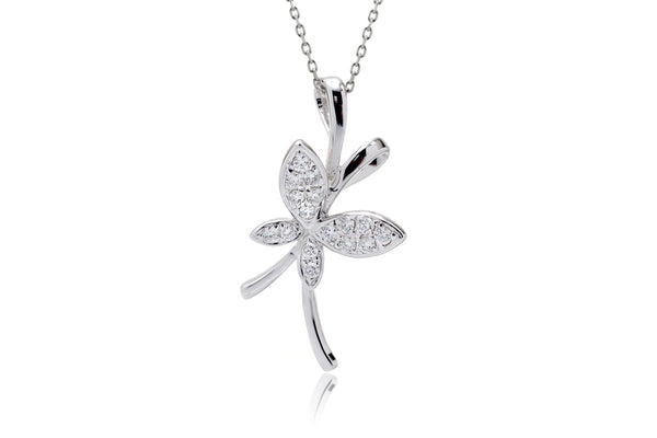The Pavé Diamond Butterfly On Wire Pendant