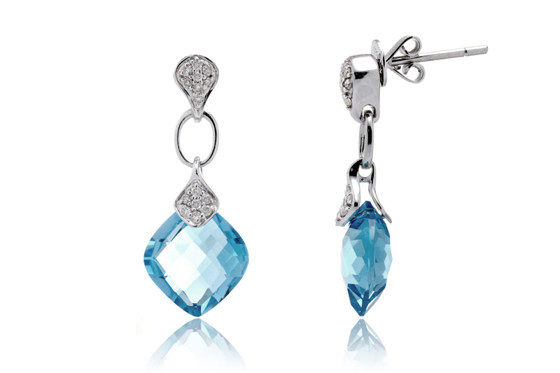 The Vivian Cushion Topaz Dangles