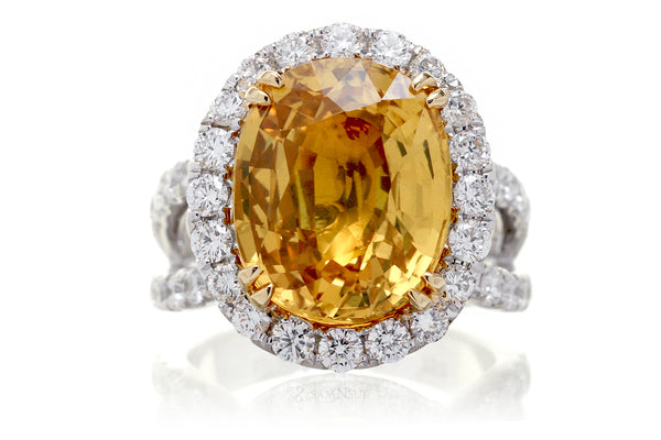 The Bonnie Oval Yellow Sapphire (11.25 ct. tw.)