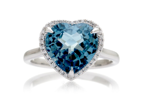 The Ophelia Heart London Blue Topaz