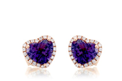 The Ophelia Heart Amethyst Studs