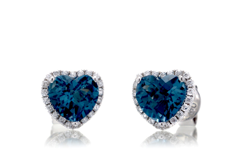 The Ophelia Heart London Topaz Studs