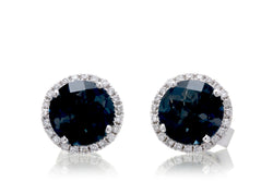 The Ophelia Round London Topaz Studs (6mm)