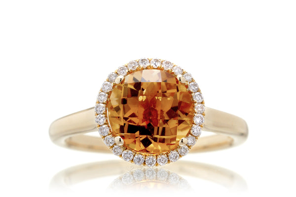 The Ophelia Round Citrine (7mm)