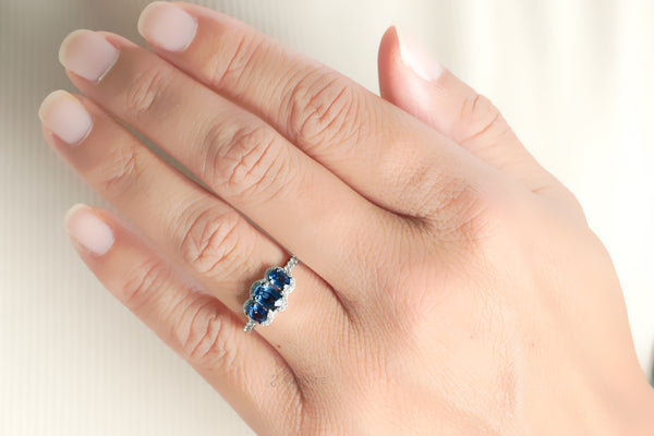 The Pennie Oval Sapphire Ring