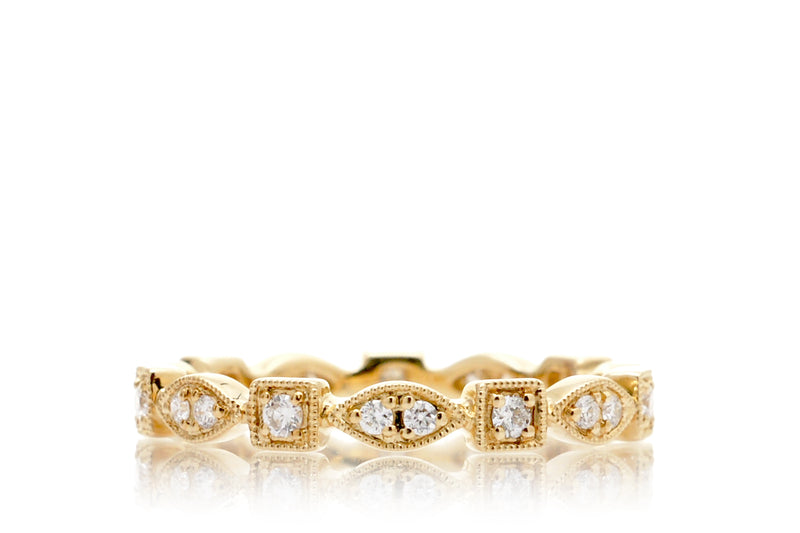 The Delilah Square Eternity Diamond Band