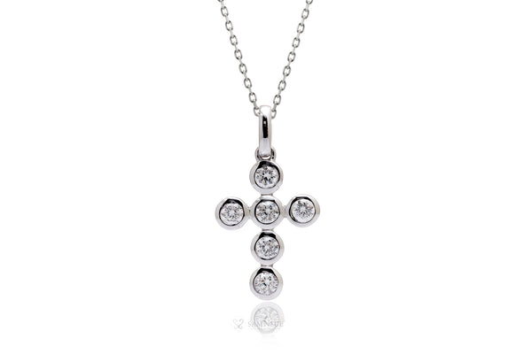 The Bezel Diamond Cross Pendant