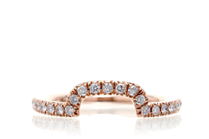 The Drenched Curved Diamond Band