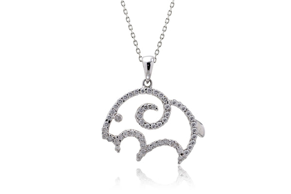 The Ram Diamond Pendant