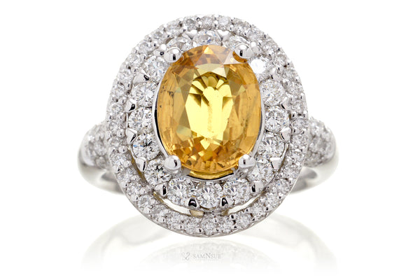 The Dottie Oval Yellow Sapphire Ring (4.65 ct. tw.)