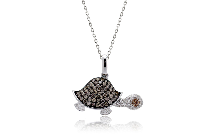 The Side Turtle | Tortoise Pendant