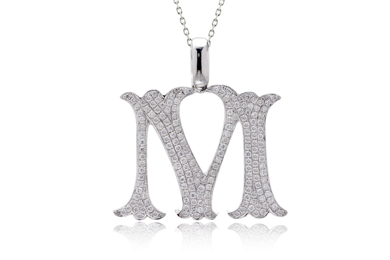 The Pavé Initial Pendant