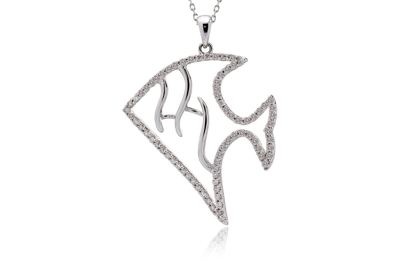 The Angel Fish Diamond Pendant