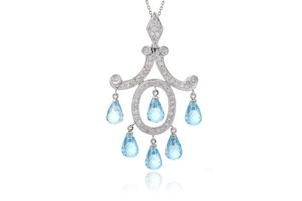 The Ombline Topaz Dangle Pendant (10.28 ct. tw.)
