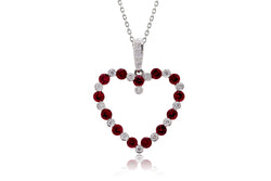 The Erna Ruby Open Heart Pendant