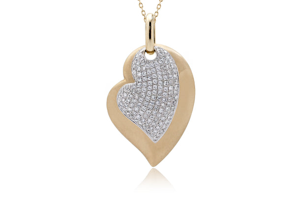The Ollie Heart Pavé Pendant