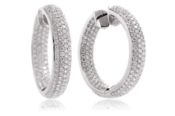 Inside Out Pavé Diamond Hoop Earrings (3.70 ct. tw.)