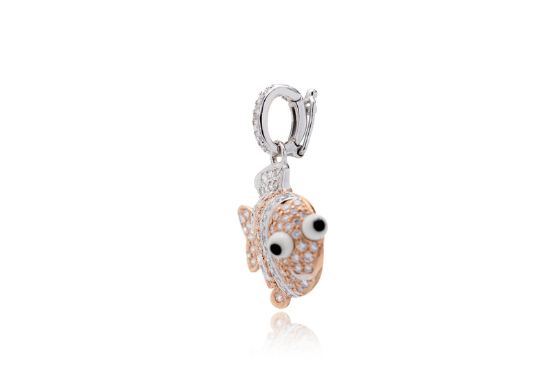 The Clown Fish Diamond Charm Pendant