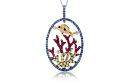 The Coral And Clown Fish Pendant