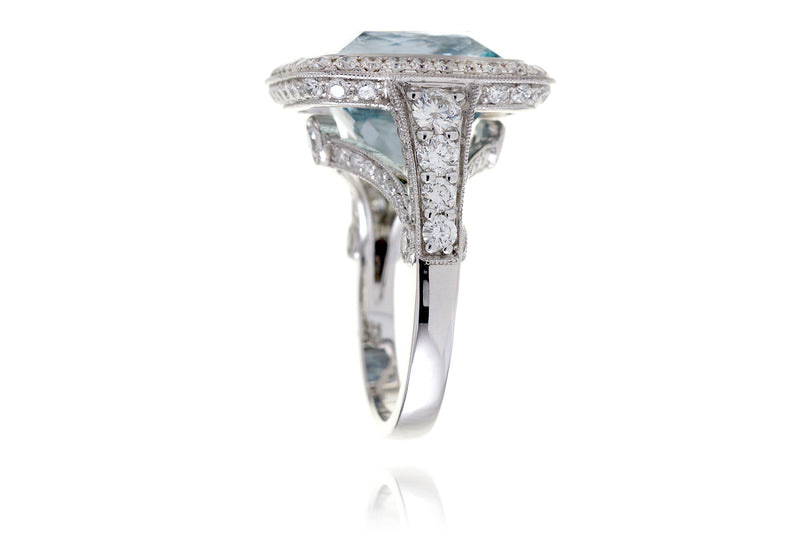The Gwendoline Cushion Aquamarine (11.13 ct. tw.)