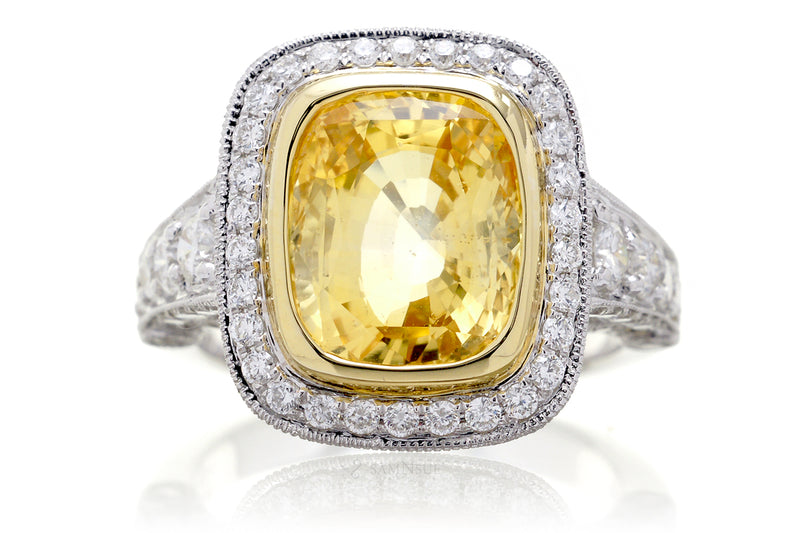 The Gwendoline Cushion Yellow Sapphire (7.97 ct. tw.)