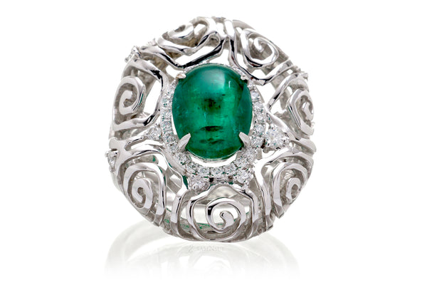 The Emilia Oval Cabochon Emerald (3.76ct. tw.)