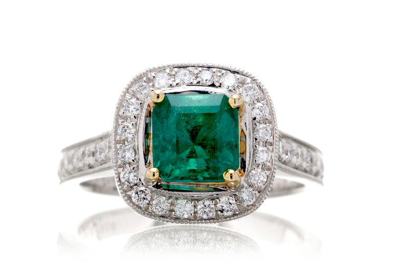The Edith Square Emerald Ring (1.72ct. tw.)