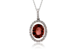 The Oval Tourmaline Halo Pendant (3.81 ct. tw.)