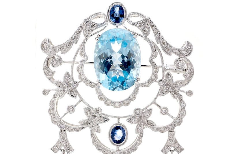 The Bernadine Brooch Pendant (18.17 ct. tw.)