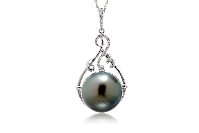 The Poehina Pearl Diamond Pendant (14.7mm)