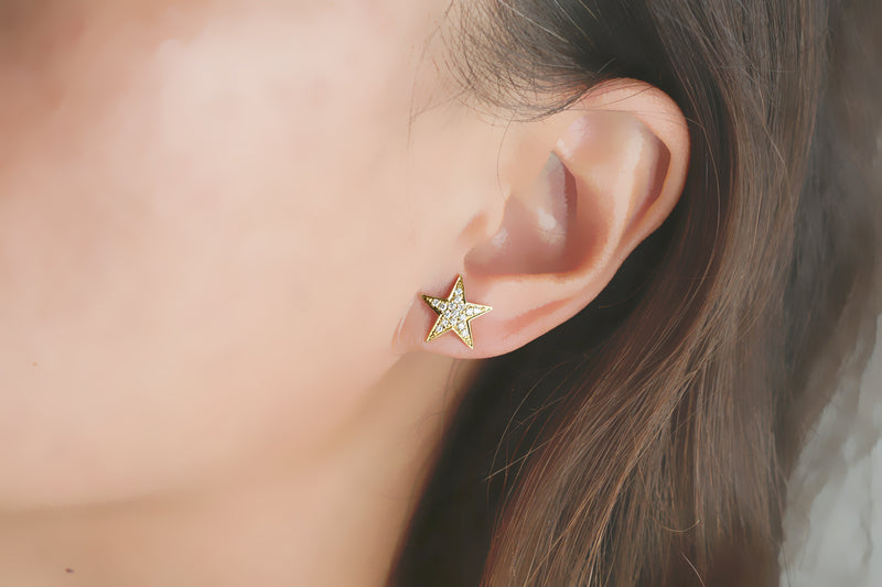 The Star Diamond Pavé Studs