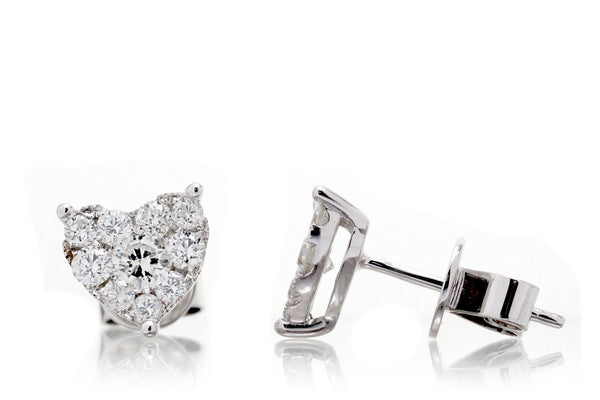 The Heart Diamond Cluster Studs (3/4ct. tw.)