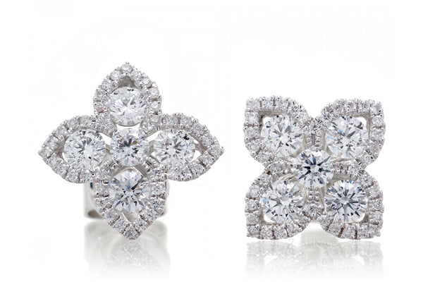The Four Leaf Diamond Studs