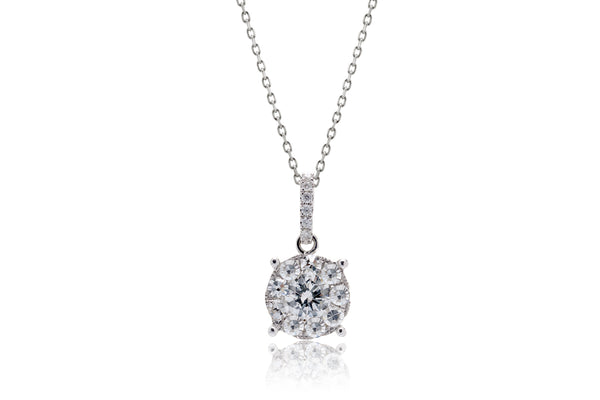 The Cluster Drop Diamond Pendant (8mm)