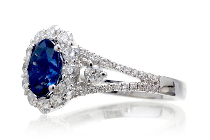 The Chelsea Oval Sapphire