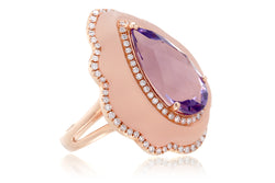 The Agatha Pear Amethyst Ring
