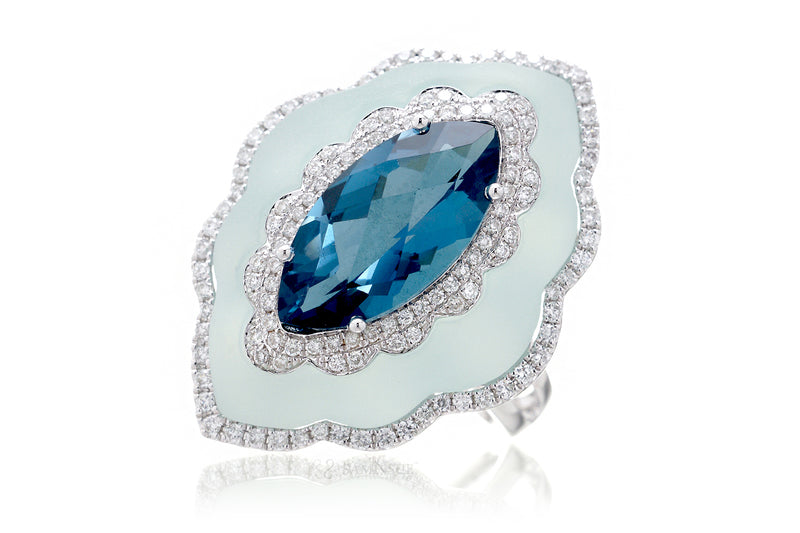 The Agatha Marquise Topaz Ring
