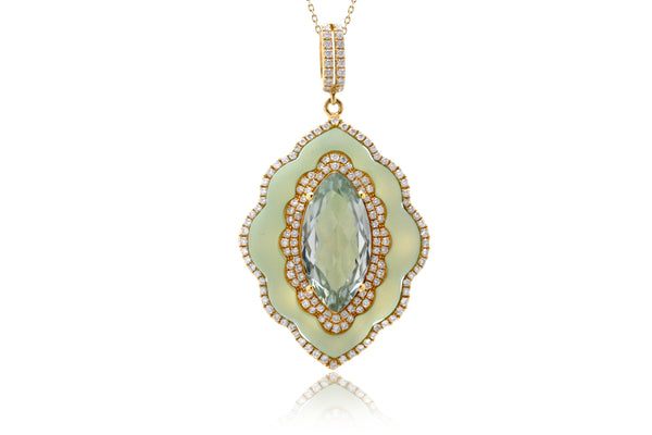 The Agatha Marquise Blue Quartz Pendant