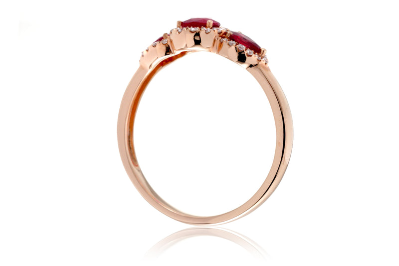 The Nellie Pear Ruby Ring