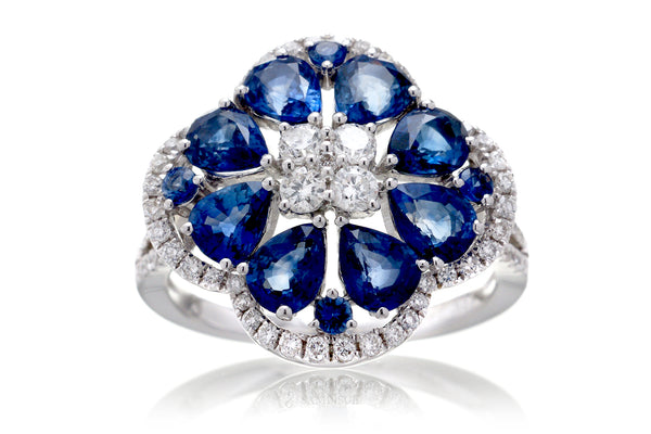 The Clarissa Blue Sapphire Ring (3.76 ct. tw.)