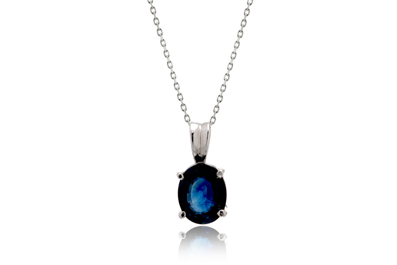 The Solitaire Oval Sapphire Pendant (2 ct.)