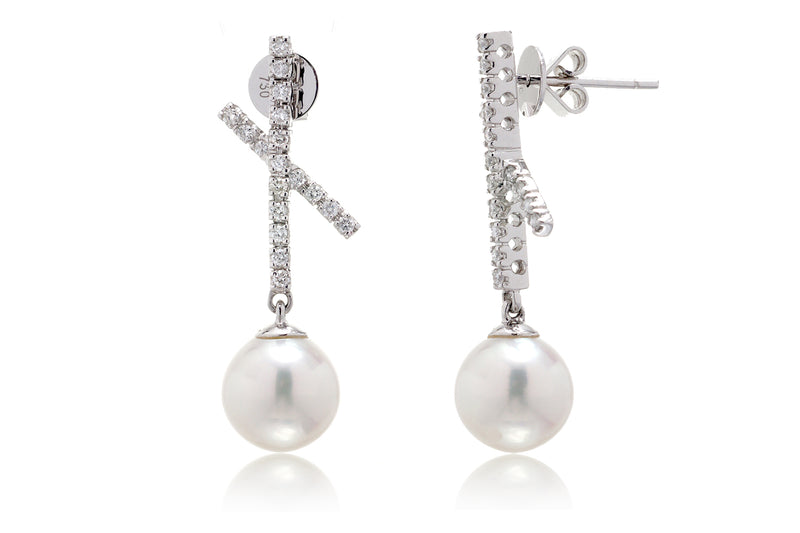 The Konani Pearl Dangle Earrings (8mm)