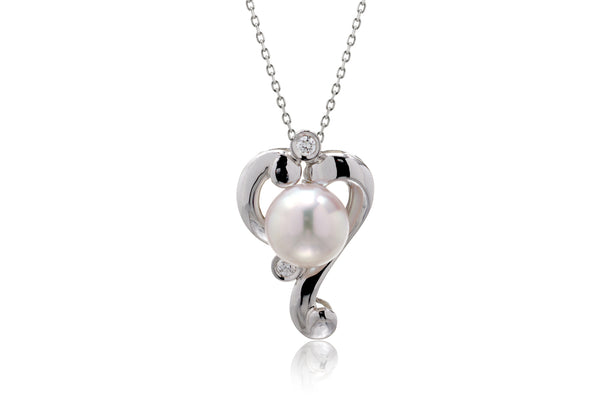 The Heart Pearl Pendant (7.5mm)