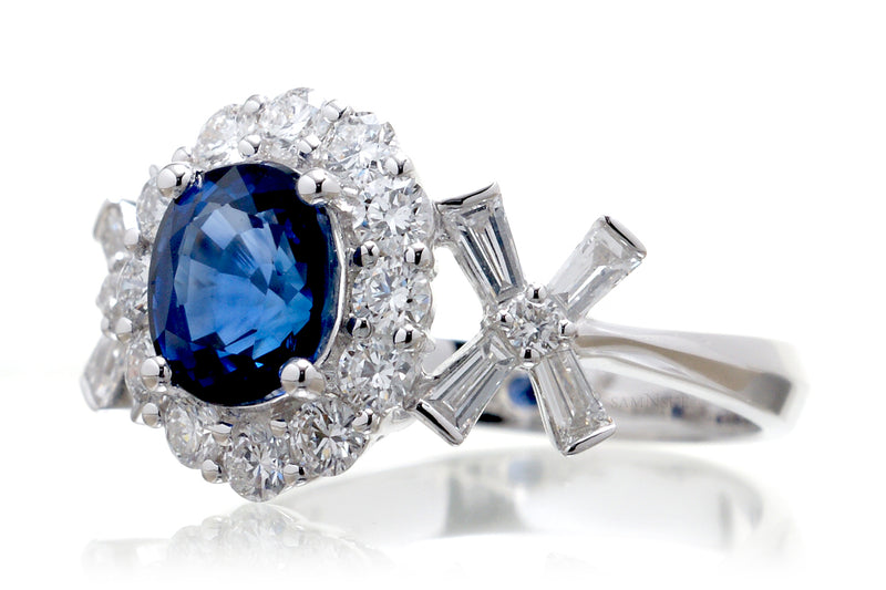 The Julie Oval Sapphire (7x6mm)