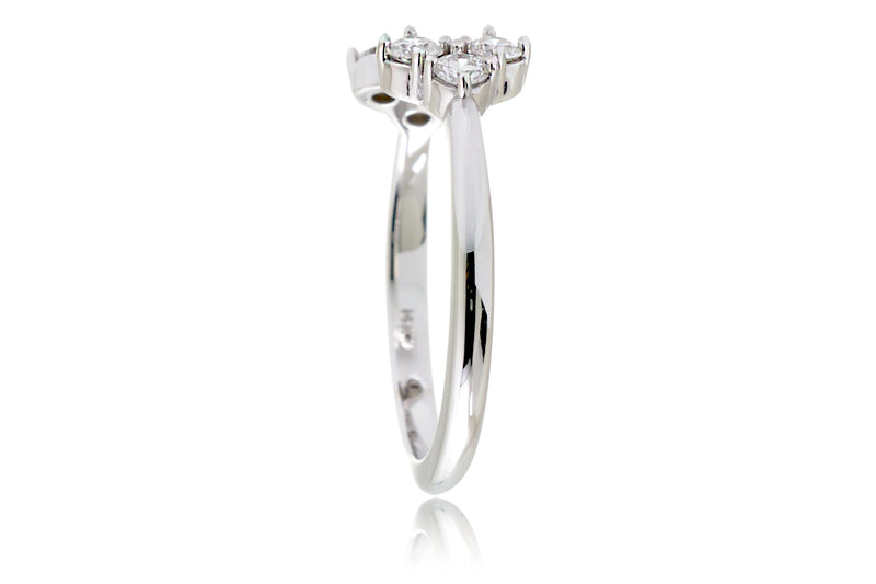 The Open Shank Diamond Heart Band