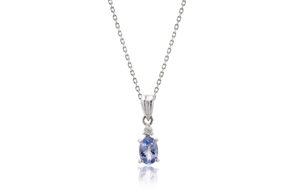 The Oval Tanzanite Pendant