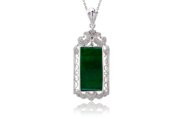 Imperial Jade Rectangle Pendant